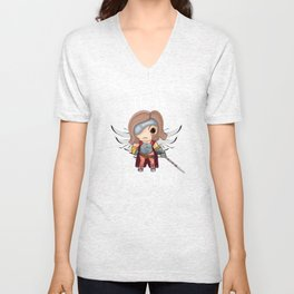 MK Save the Queen (White) Unisex V-Neck
