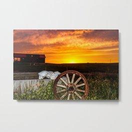 Wyoming Sunset Metal Print