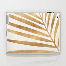 Metallic Gold Palm Leaf Laptop & iPad Skin