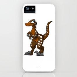 Hot Cocoa Velociraptor iPhone Case