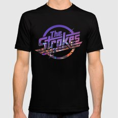 The Strokes Logo New York Night LARGE Black Mens Fitted Tee