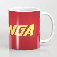 bazinga Mugs featuring The Bazinga by thom2maro