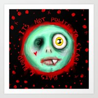IT'S NOT POLITE TO STARE Art Print