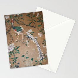 Antique French Chinoiserie in Tan & White Stationery Cards