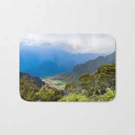 Kalalau lookout in Koke'e State Park - Kauai, Hawaii Bath Mat