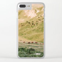 Stallions & Mares in the Valley Clear iPhone Case