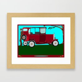 A Man and his Vintage Car Framed Art Print