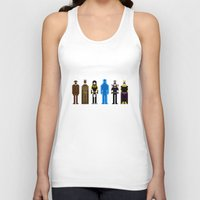 watchmen Tank Tops featuring 8-bit Watchmen by MrHellstorm