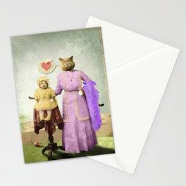 Momma Kitty Loves Her Kitten Stationery Cards