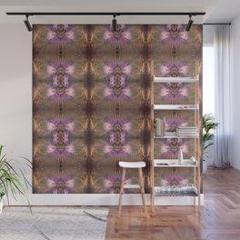 Pink Batik Flowers Wall Mural