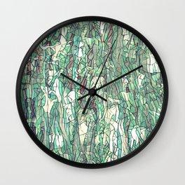 Abstract green Wall Clock