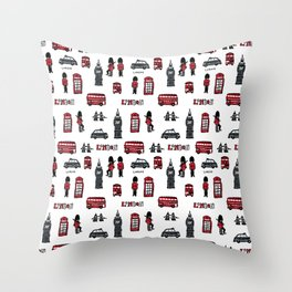 London icons illustration Throw Pillow