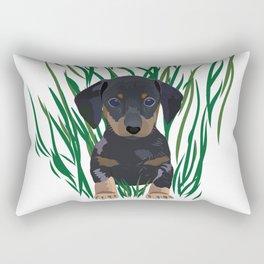 Sausage Dog Design Rectangular Pillow