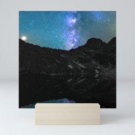 Milky Way Mountain Mini Art Print