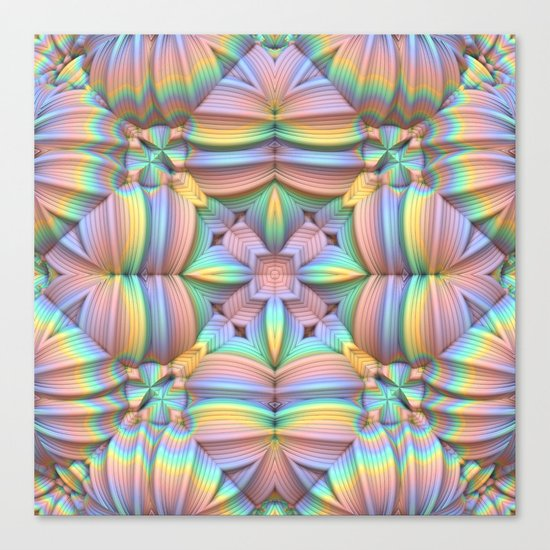 Symmetry in Pastels Canvas Print