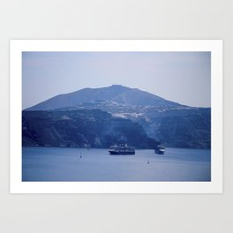 Santorini, Greece 8 Art Print