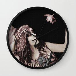 Cleopatra Theda and Lotus Wall Clock