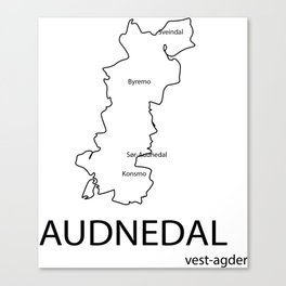 map of audnedal Canvas Print