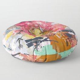 Jean-Michel Basquiat Portrait Floor Pillow