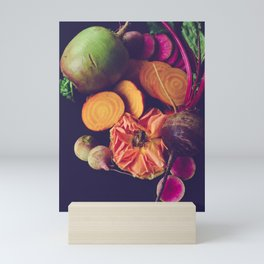 Moody Modern Botanical Floral and Vegetables Mini Art Print