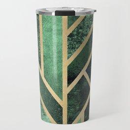 Art Deco Emerald Travel Mug