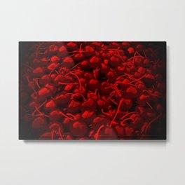 cherries pattern reacdr Metal Print