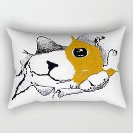 cat out the bag Rectangular Pillow
