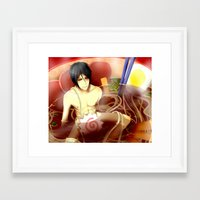 ramen Framed Art Prints featuring Ramen by Keichou