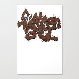 Walnut Stamp Graffiti  Canvas Print