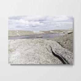 Granite Pool in the Clouds Metal Print