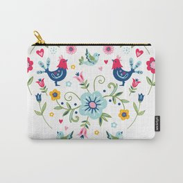 Scandi Folk Chickens Carry-All Pouch