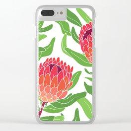 Protea Garden Clear iPhone Case