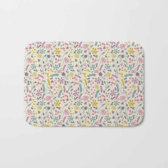 Retro Blooms (Candy) Bath Mat