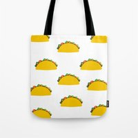 taco Tote Bags featuring Taco  by Beautiful Artworks