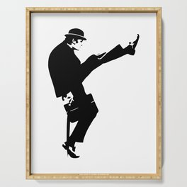 The Ministry of Silly Walks Artwork for Wall Art, Prints, Posters, Tshirts, Men, Women, Kids Serving Tray
