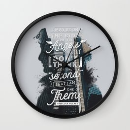 Sherlock - Angels Wall Clock