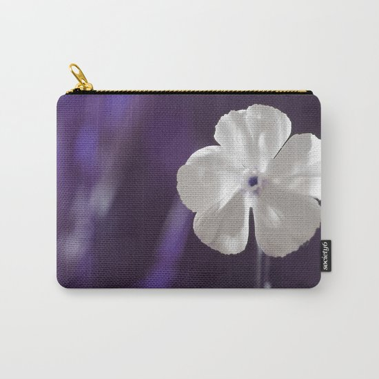 White Flower Art Carry-All Pouch