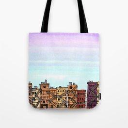 New York Purple Sky Tote Bag