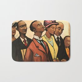 African American Portrait 'Churchgoers' by J. Andre Smith Bath Mat
