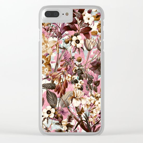 Natural Summer Pattern Clear iPhone Case