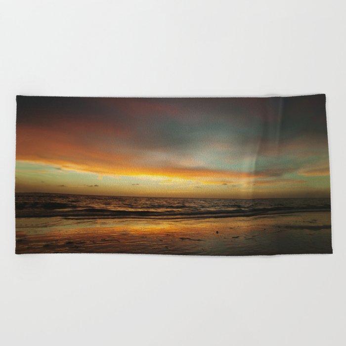 Florida Beach Sunset Beach Towel