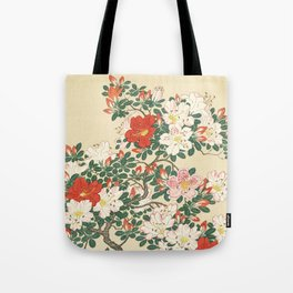 Vintage Azalea Japanese Woodcut Tote Bag