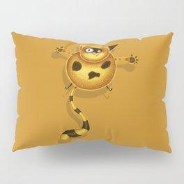 Flying Fat Cat | Golden Pillow Sham