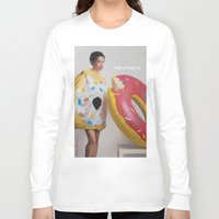 donut Long Sleeve T-shirts featuring Donut by Sally Jane Fuerst