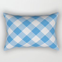 Blue Gingham Rectangular Pillow