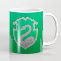 slytherin Mugs featuring Or perhaps in Slytherin by Tom Oxnam