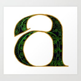 'A' for many things Art Print