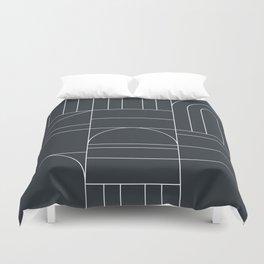 Deco Geometric 04 Black Duvet Cover