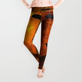 Indigenous Inca Tribal Sapa Inca, Son of the Sun portrait painting by Ortega Maila Leggings
