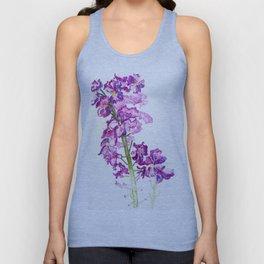 Purple Wildflower Watercolour Unisex Tank Top
